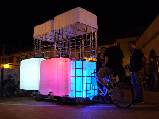 Glowing bike bar