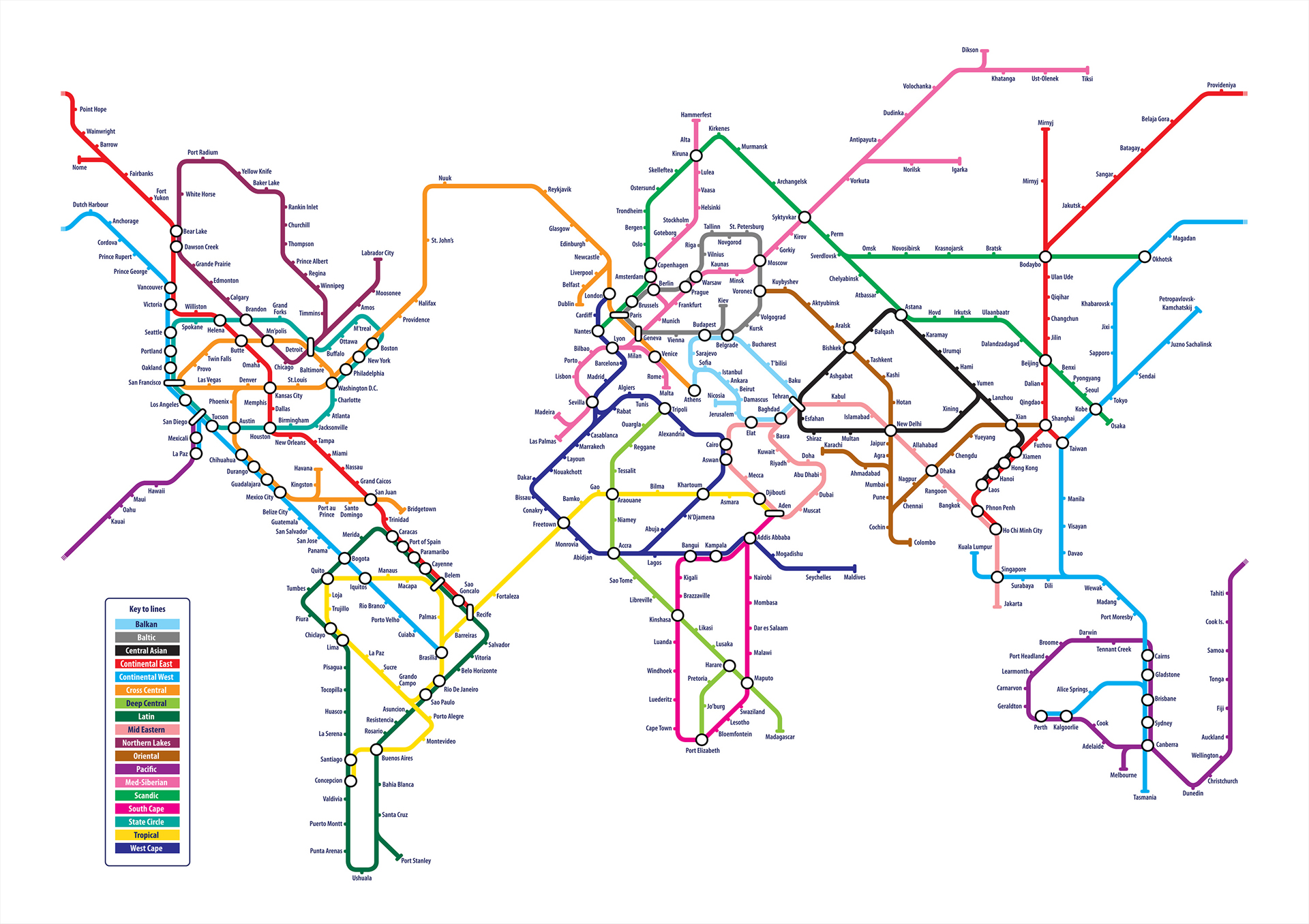 World Tube Map by Michael Tompsett  coffeepapertrend
