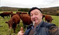 Farmer PJ Ryan from Newport, Co Tipperary, in his prize-winning selfie